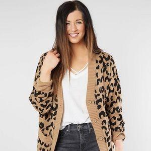 Daytrip leopard cardigan sweater